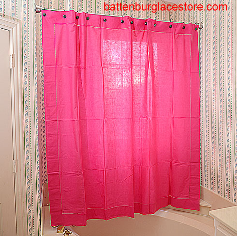 Shower Curtain. Raspberry Sorbet color